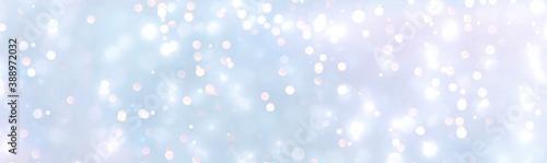 Obraz abstract blue  light background - Christmas Winter Background Banner - fototapety do salonu