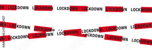 lockdown absperrband Fototapete