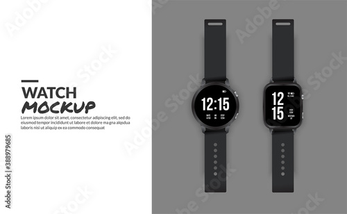 Canvas-taulu Modern smart watch mockup isolated with copy space at side