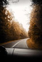 Roadtrip Moment Im Herbst Aufe...
