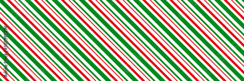 Peppermint candy cane Christmas background,  diagonal stripes print seamless pat Canvas-taulu