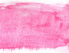 Pink Watercolor Painting With White Borders