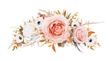 Romantic Stylish Vector Floral...