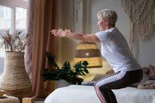 Senior Caucasian Woman Practic...