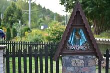 Wayside Shrine In Krzeszna, Poland.