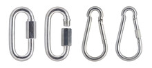 Quick Link Connector Rigging Hardware Heavy Duty Stainless. Stainless Steel Carabiner Oval. Screwlock Quick Link Lock. Ring Hook Chain Rope Connector Buckle Locked Hook.