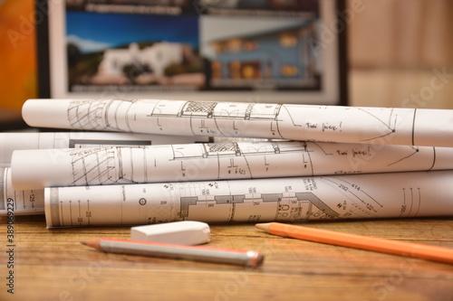 Fotografia progetti di case edifici palazzi fabbricati ingegnere architetto design costruir