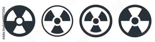 RADIATION Hazard sign in circle, radiation nuclear symbol icon Slika na platnu