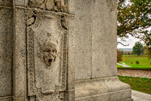 A Detailed Stone Face On The National Memorial Arch At Valley Forge National Historical Park