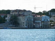 Embankment Of The City Of Sevastopol. Architecture Near The Coastline.