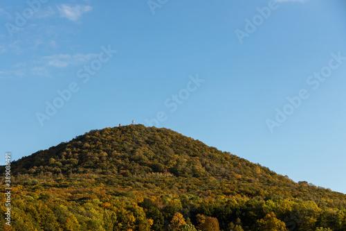 Obraz na plátně Autumn czech nature mountain with broadleaf forest