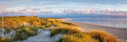 Panoramic view of a dune beach on the island of Sylt, Schleswig-Holstein, Germany