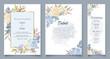 Elegant soft floral wedding invitation card template