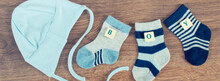 Blue Socks And Cap For Baby Wi...
