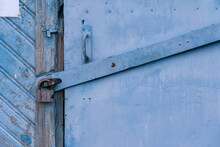 Fragment Of An Old Blue Iron-s...