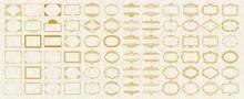 様々な形状のビンテージフレームセット
