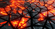 Cracked Surface With Burning L...