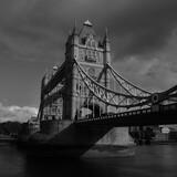Fototapeta Kwiaty - tower bridge London Black and White