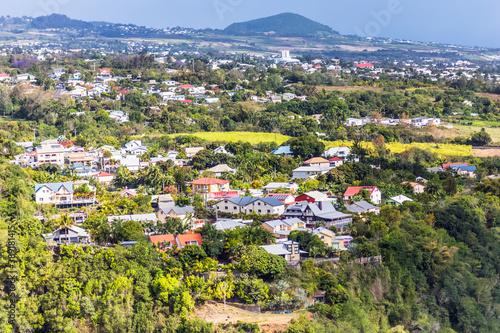 Fotomural Bras de Pontho et le Tampon, île de la Réunion