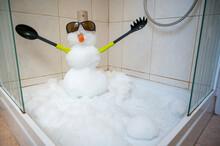 Small Snowman Built Inside A S...