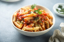 Pasta With Tomato Sauce And Ch...