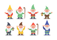 Collection Gnome Character.
