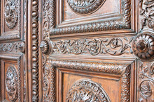 Detail Of An Old Italian Woode...