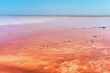 Unusual Pink Salt Lake In The ...