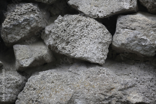 Fototapeta Texture rough masonry old stone brick wall