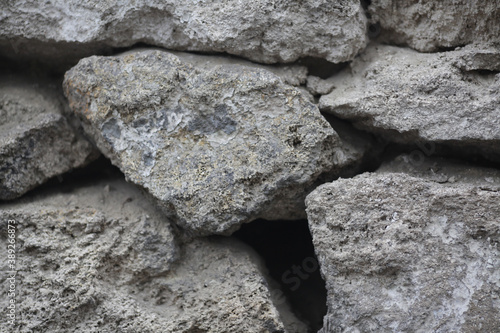Texture rough masonry old stone brick wall Canvas
