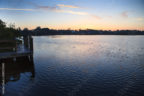 Spring sunrise over intercoastal waterway Canvas