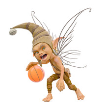 Pixie Is Playing Basketball