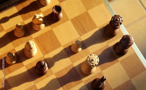 Fotografía Il re e la regina negli scacchi - gioco di società