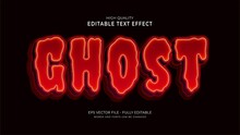Ghost Text Effect, Editable Movie Graphic Style Effect