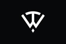 WT Logo Letter Design On Luxury Background. TW Logo Monogram Initials Letter Concept. WT Icon Logo Design. TW Elegant And Professional Letter Icon Design On Black Background. T W WT TW