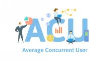 ACU, Average Concurrent User. ...