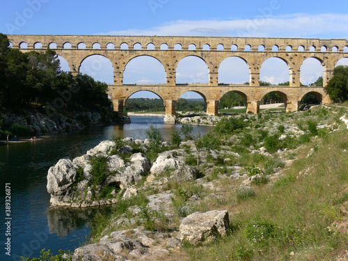 Obraz na plátně The Pont du Gard is an ancient Roman aqueduct in Southern France