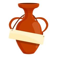 Greek Vase Auction Icon. Cartoon Of Greek Vase Auction Vector Icon For Web Design Isolated On White Background