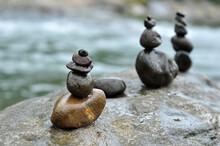 Rock Stacking Or Rock Balancing