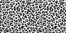Seamless Vector Leopard Pattern.  Trendy Stylish Wild Gepard, Leopard Print. Animal Print Background For Fabric, Textile, Design, Advertising Banner.