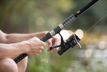 Fly Fishing Rod In Fisherman H...