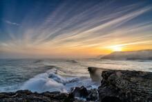 Huge Storm Surge Ocean Waves C...