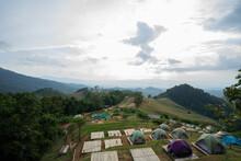 Camping Area View See Mist Sri Nan National Park Doi Samer Dao Nan Province Thailand