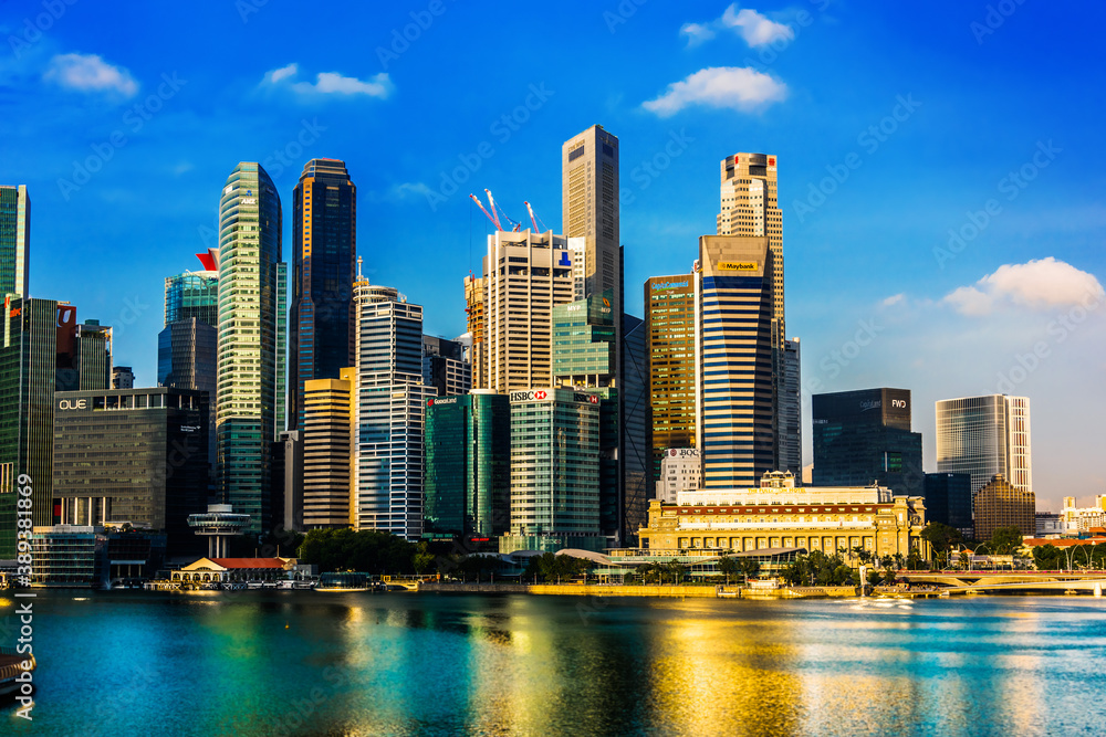 Singapore downtown waterfront