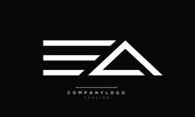 EA Initials Monogram Letter Text Alphabet Logo Design