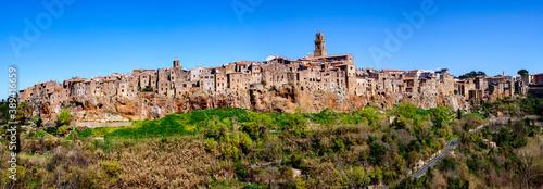 Fototapety, obrazy: Panorama Ansicht von Pitigliano in der Toskana