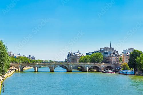 Fototapeta Summer cityscape of Paris, France