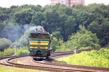 Powerful Diesel Locomotive In ...