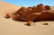 Petrified Sand Structures Like Rocks In The Namib Desert