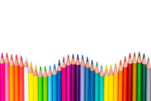 Colored Pencils - Isolated On ...